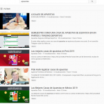 Incremento bestial en Youtube de videos sobre apuestas