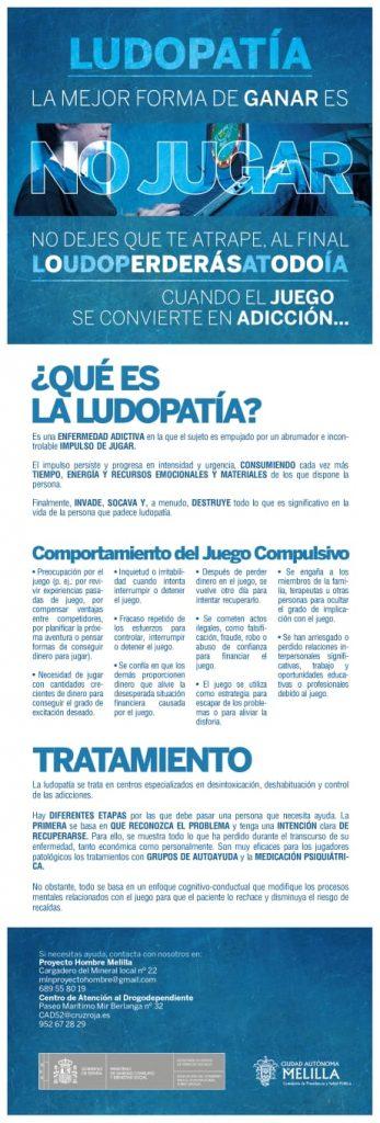 Cartel ludopatía Melilla